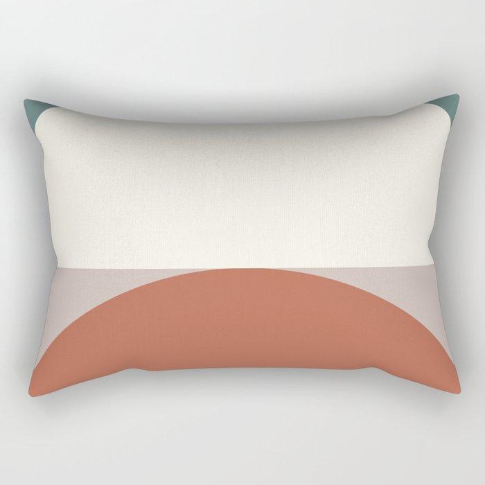 Abstract Geometric 01D Rectangular Pillow