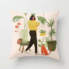 Migrating a Plant Throw Pillow