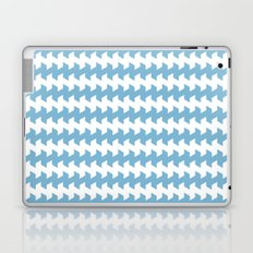 jaggered and staggered in dusk blue Laptop & iPad Skin