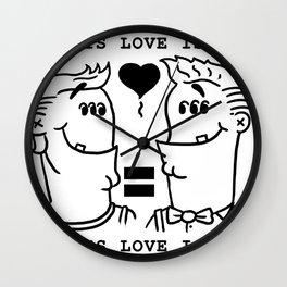 Equali-Tee: Buff 'n' Dandy Wall Clock