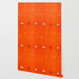 -A10- Traditional Anthropologie Moroccan orange Artwork. Wallpaper