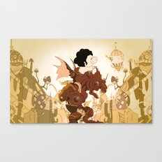 Pig in a fantasy Canvas Print