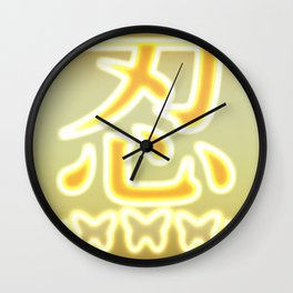 This is an illustration that describes the Japanese language ninja. Wall Clock