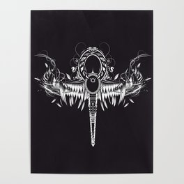 Ankh - spiritual symbol Poster