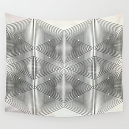Optical Vibrations in Black and White Wall Tapestry