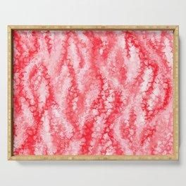 Ruby & Pastel Blush Strawberry Lace Pattern Serving Tray