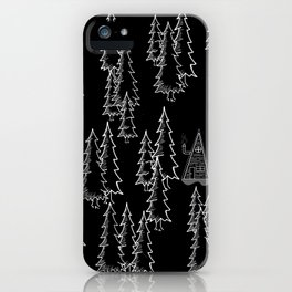 Lost in the wood, a lonely cabin (revers) iPhone Case