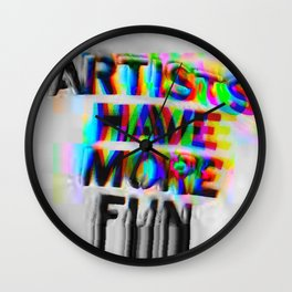 Artists Have More Fun LG Wall Clock