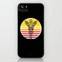 Giraffes Motif Giraffe iPhone Case