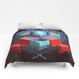 Abstract Cube 01 Comforters