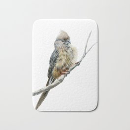 Speckled Mousebird by Teresa Thompson Bath Mat