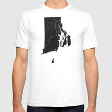Home State - Rhode Island White SMALL Mens Fitted Tee