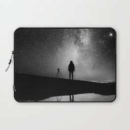 Finland and Galaxy (Black and White) Laptop Sleeve