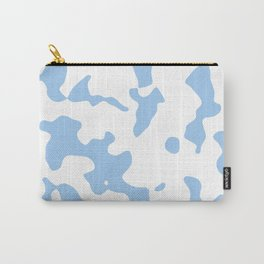 Large Spots - White and Baby Blue Carry-All Pouch