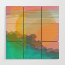 Shapes and Layers no.10 - Sun, Waves, Clouds, Sky abstract Wood Wall Art