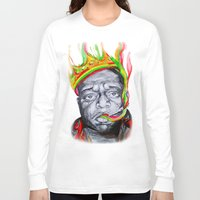 biggie smalls Long Sleeve T-shirts featuring Biggie Smalls by Liam Reading