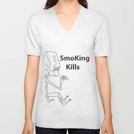 smoking kills Unisex V-Neck