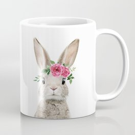 Baby Bunny with Flower Crown Coffee Mug