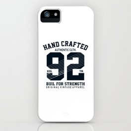 Hand crafted authentic logo iPhone Case