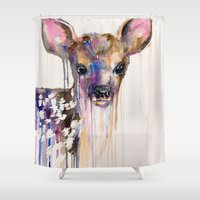 deer Shower Curtains featuring Deer by Slaveika Aladjova