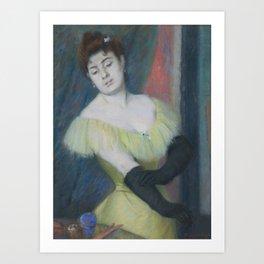 Federico Zandomeneghi   I GUANTI NERI (THE BLACK GLOVES) Art Print