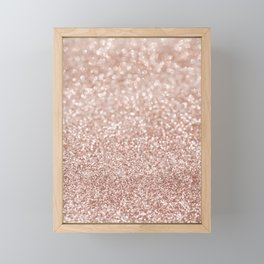 Sparkling Rose Gold Blush Glitter #2 #shiny #decor #art #society6 Framed Mini Art Print