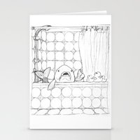 bathroom Stationery Cards featuring The Bathroom Monologue by Shany Atzmon