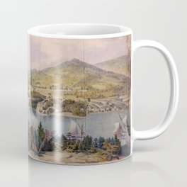 Panorama of West Point from Constitution Island by John Rubens Smith (c 1820) Coffee Mug