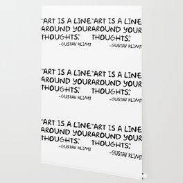 Art is a line around your thoughts Wallpaper