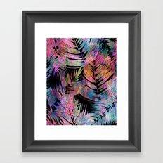 Waikiki Tropic {Black} Framed Art Print