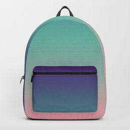 Antigua - Classic Colorful Purple Green Pink Abstract Minimal Modern Summer Style Color Gradient Backpack