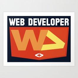 Web developer Art Print