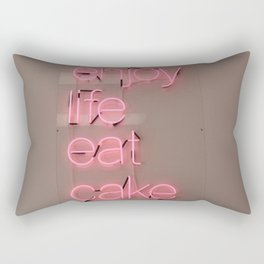 enjoy life eat cake Rectangular Pillow