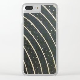 Dotted Soundwaves Clear iPhone Case