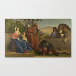 A Warrior Adoring the InfantChrist and the Virgin by Vincenzo Catena Canvas Print