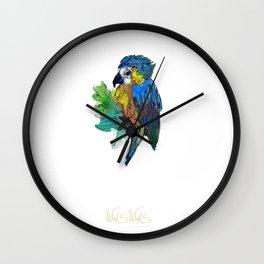 BLUE PARROT Wall Clock