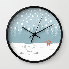 Deep Snow Wall Clock