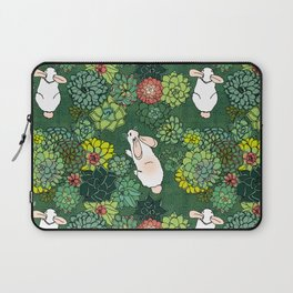 Rabbits in a Succulent Garden Laptop Sleeve