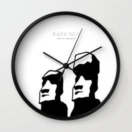 Rapa nui art Wall Clock