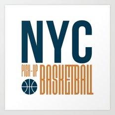 N.Y.C. Pick-Up Basketball Art Print