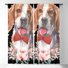 Beagle Pup Paws Heart Love Dog Breed Blackout Curtain