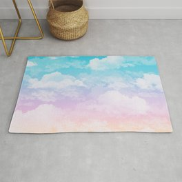 Little Fluffy Clouds Pastel Sky Rug