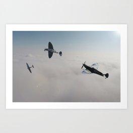 Spitfire Victory Roll Art Print