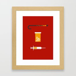 Iconic TV Shows: House MD Framed Art Print