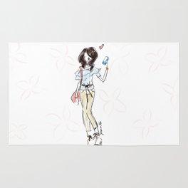 Spring Summer Fashion Doodle Rug