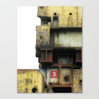 industrial Canvas Prints featuring Industrial by mimifaktur