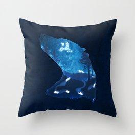 Moon Badgers Throw Pillow