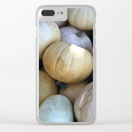 Sad Pumpkins Clear iPhone Case