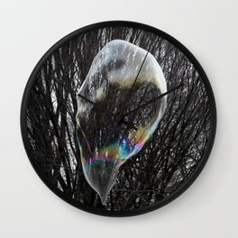 Living in a bubble Wall Clock