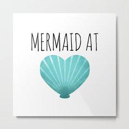 Mermaid At Heart  |  Teal Metal Print